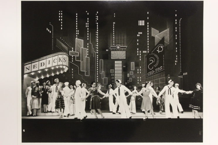 """""""Times Square Ballet,"""" photograph from the original production of On the Town in 1944. Peggy Clark Collection, Music Division, Library of Congress."""