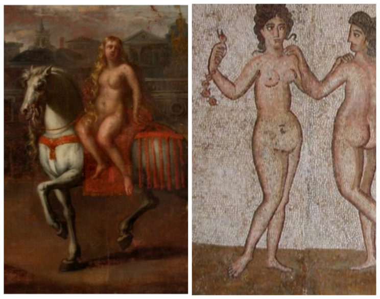 Here is an Old English fæmne and a Roman femina: the models look similar, but the etymologies are different.