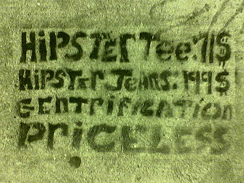 """lower haight anti-hipster stencil"" by jeremy avnet, CC BY 2.0 via Flickr."