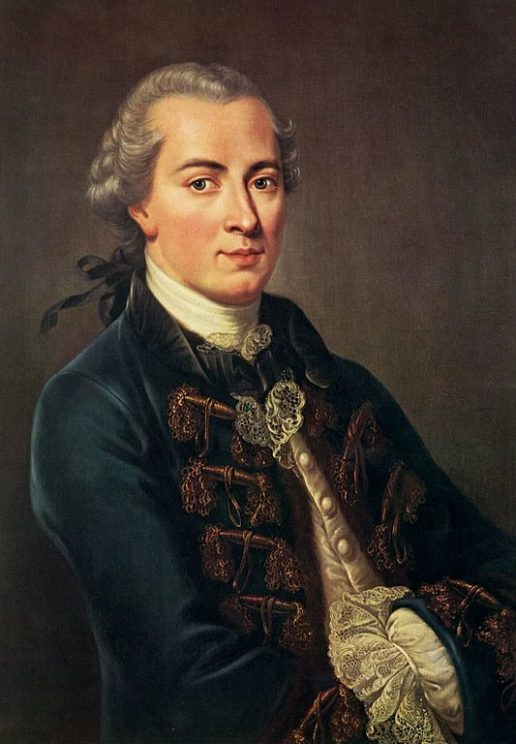 Portrait of Immanuel Kant (1724-1804). Public Domain via Wikimedia Commons.