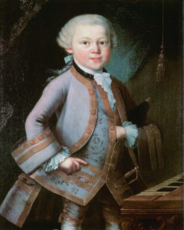 painting of Mozart as a boy