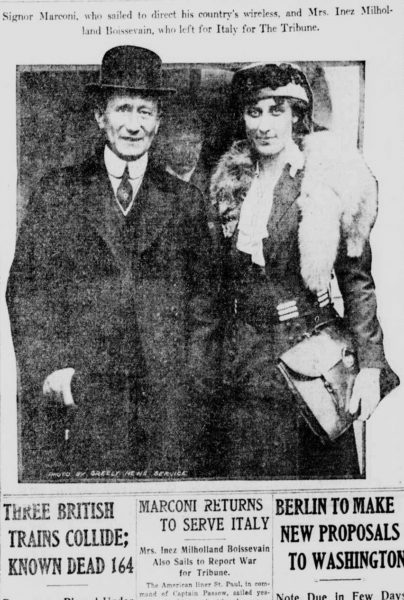 Marconi and Inez Milholland