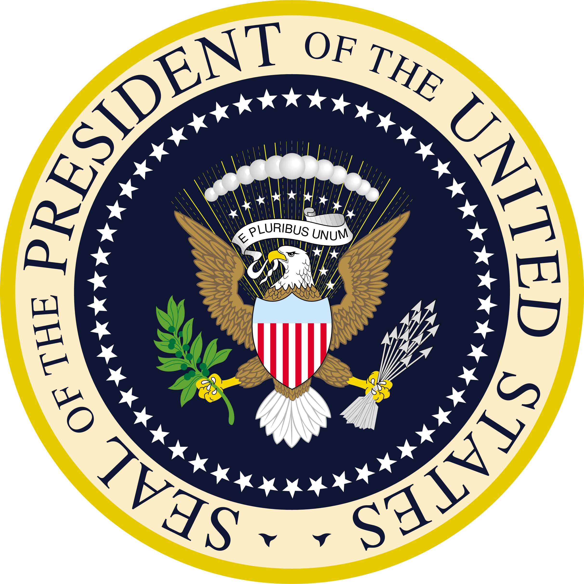 Seal of the President of the United States. Public Domain via WikiMedia Commons.
