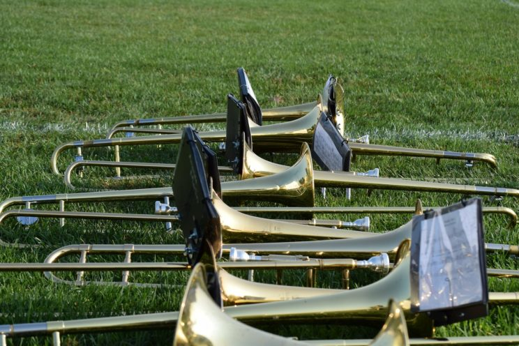 "Photo credit: ""Trombones"" by bpcraddock, Public Domain via Pixabay"