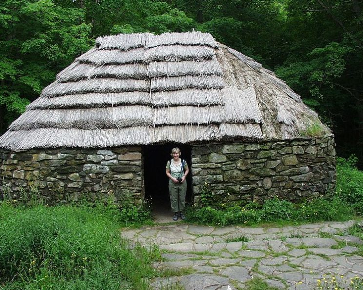 This is a picture of a shieling. Such primitive abodes have names that travel easily from land to land.