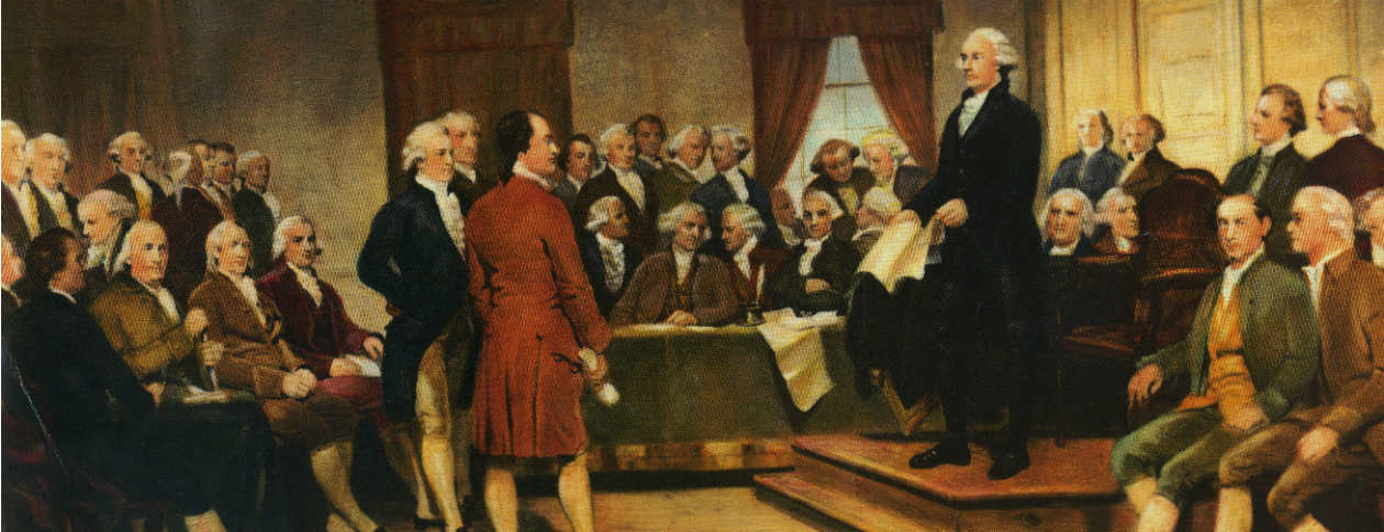 A painting depicting the signing of the original United States Constitution