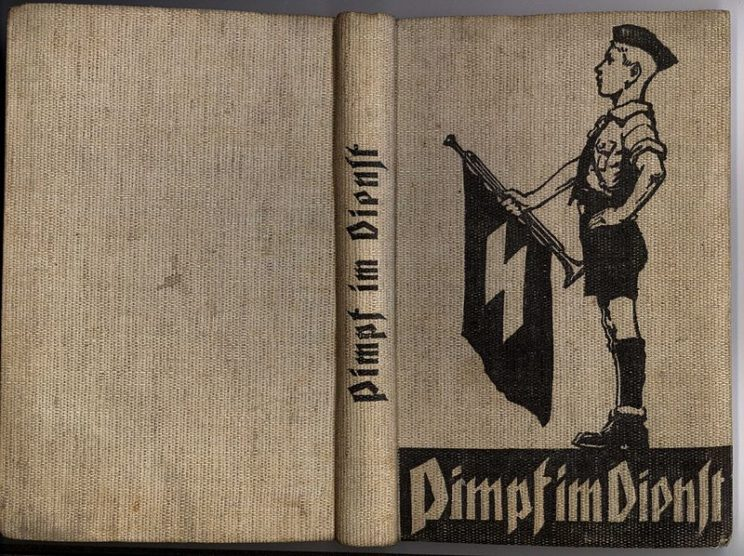 German Pimpf denotes a boy before the age of puberty. Under the Nazis, the Pimpfe were the youngest subsection of the Hitlerjugend (Hitler Youth). Note that a helper in northern Idaho mines was also called a pimp!