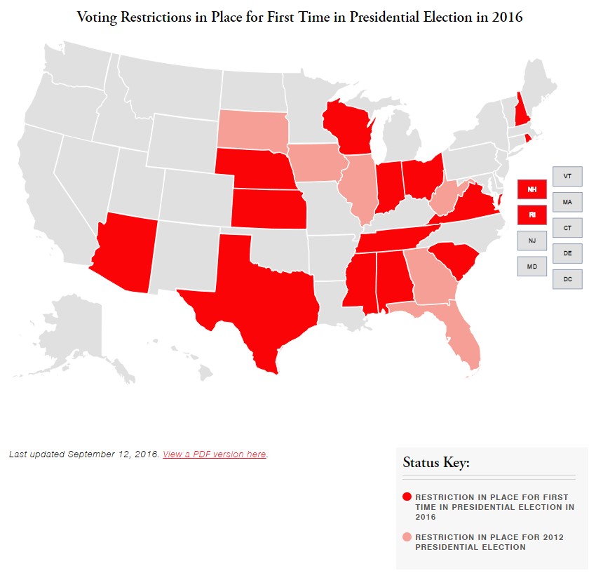 Voting Restrictions Map