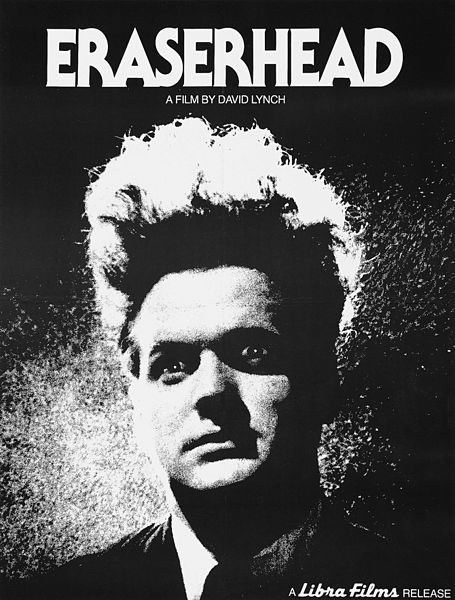 Poster of David Lynch's 1977 debut film, Eraserhead. Libre Films, Public Domain via Wikimedia Commons.