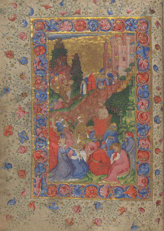 """""""MS 61, fol. 1v"""" Image reproduced with kind permission of the Master and Fellows of Corpus Christi College, Cambridge."""