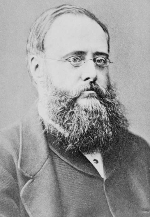 Portrait of British writer Wilkie Collins, 1871. Elliott and Fry of 55 Baker Street, Public Domain via Wikimedia Commons.