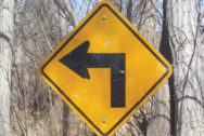 Turn left sign. Photo by Bradley Gordon. CC BY 2.0 via Flickr.