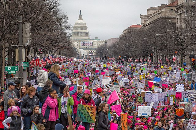 Women's March on Washington by Mobilus In Mobili Creative Commons Attribution-Share Alike 2.0 Generic Via Wikimedia Commons