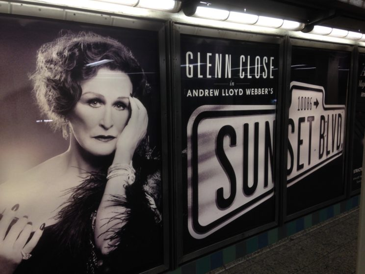 Figure 2: Glenn Close as Norma Desmond in the current revival of the musical version of Sunset Boulevard.