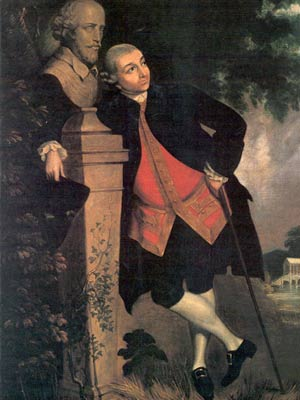 This is the celebrated actor David Garrick. He was very deep.