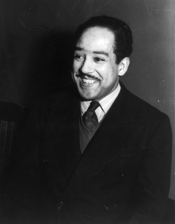 Portrait of poet Langston Hughes in 1942 by Jack Delano. Public Domain via Wikimedia Commons.