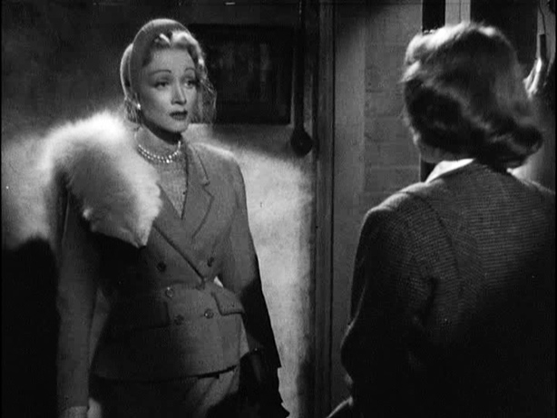 Figure 4: Sparks fly between Marlene Dietrich and Jane Wyman's women in Stage Fright