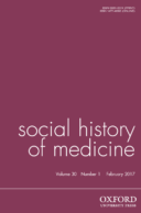 Social History of Medicine Journal Cover
