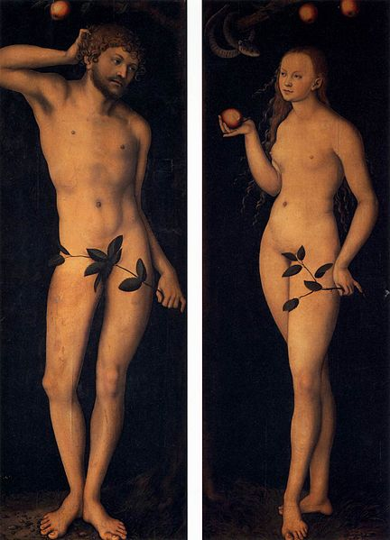 The original sin. But the forbidden fruit is unlikely to have been an apple.