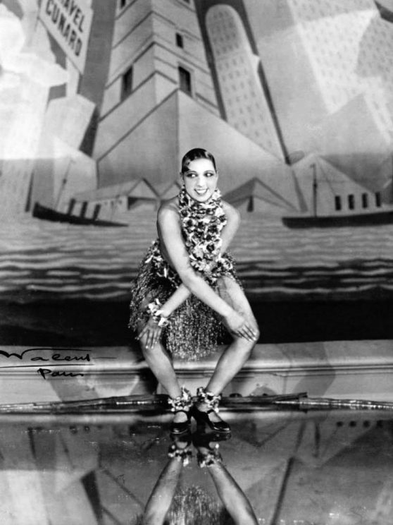 Josephine Baker dancing the Charleston at the Folies-Bergère, Paris' by Walery French, Public Domain via Wikimedia Commons.
