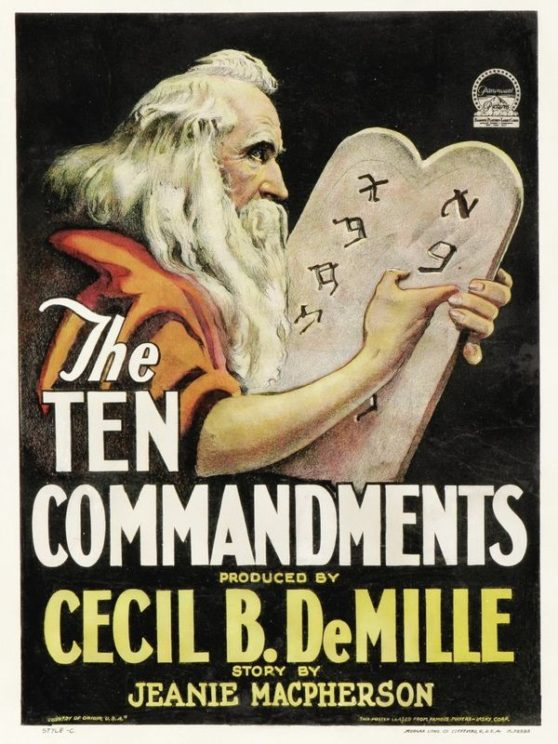 The Ten Commandments by Breve Storia del Cinema via Flickr https://www.flickr.com/photos/116153022@N02/16420384712/in/photolist-4WqxeC-zmWRNz-r21Lif-4myfZU-7w2m7x-2rY5S6-5yxV5u-5GKcah-JchCa-NsPCfD