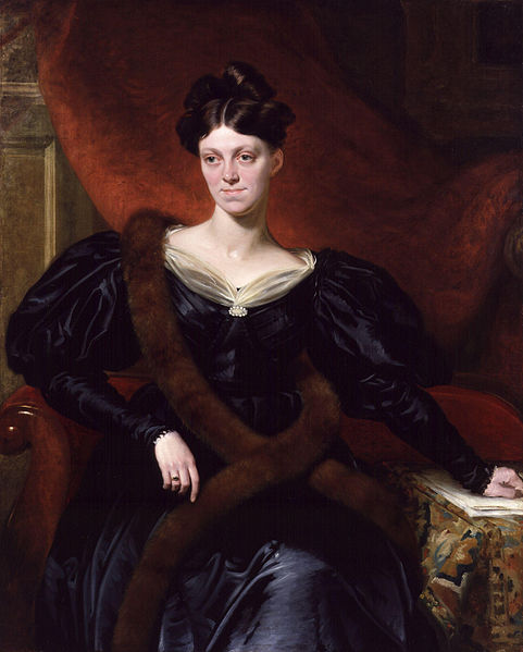'Harriet Martineau, by Richard Evans, exhibited 1834', from the National Portrait Gallery, Public Domain via Wikimedia Commons.