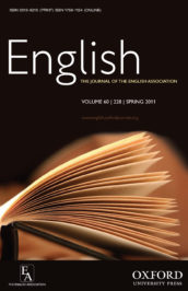 English: The Journal of the English Association cover