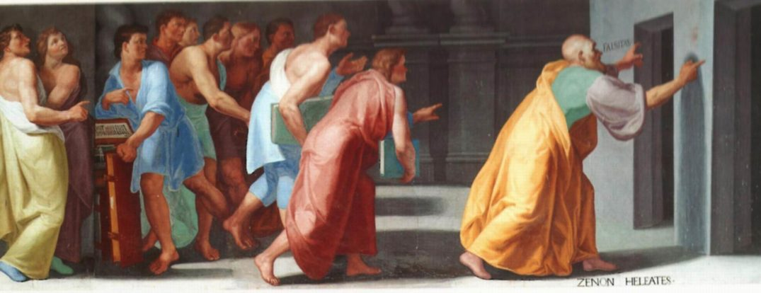 Zeno of Elea shows Youths the Doors to Truth and False