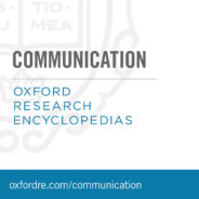 Oxford Research Encylopedias: Communications