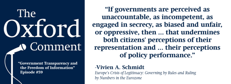 Vivien Schmidt on the importance of government transparency