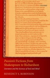 Passion's Fictions from Shakespeare to Richardson: Literature and the Sciences of Soul and Mind