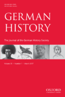 German History journal cover